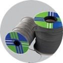 Round black sealing braid with internalcore as reinforcement ARTICA - Spool