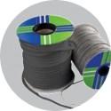 Round black hollow sealing braid Tricotex- spool