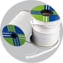 Round white hollow sealing braid Tricotex- spool