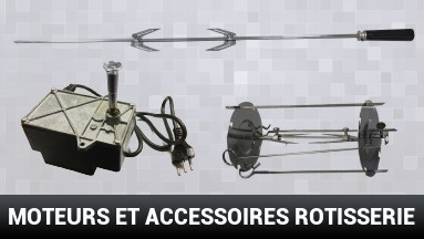 Moteurs et accessoires rotisserie