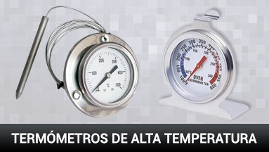 Termómetros de alta temperatura
