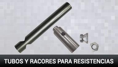 Tubos y racores para resistencias