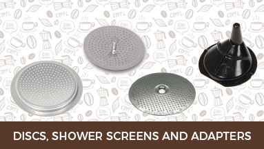 Discs, shower screens and adapters