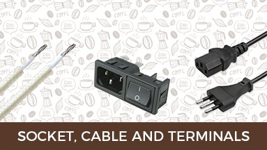 Socket, cable and terminals