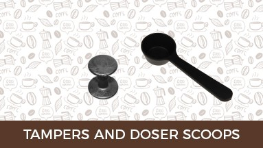 Tampers and doser scoops