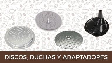 Discos, duchas y adaptadores