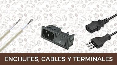 Enchufes, Cables y terminales