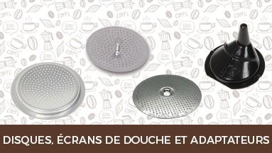 Disques, écrans de douche et adaptateurs